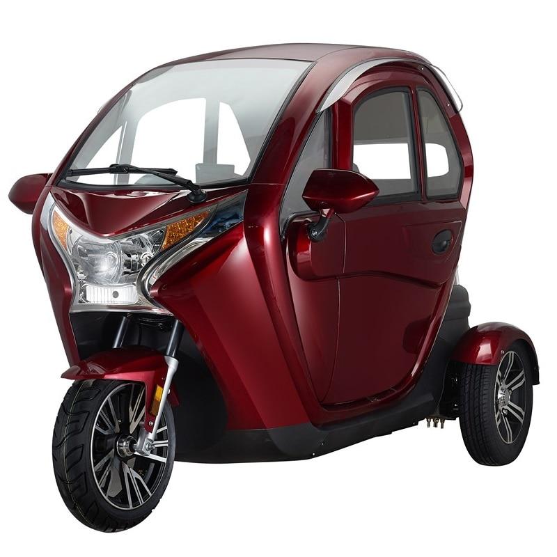 مغلق بالكامل 1000 واط مركبة كهربية 3 عجلات دراجة ثلاثية للكبار الركاب توك توك سيارة EEC الموافقة