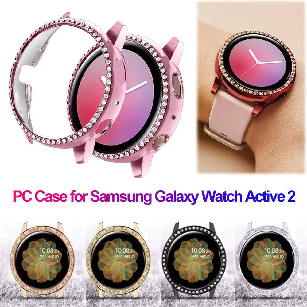 Hard PC Smart Watch Protector Case Luxury Diamond Watch Cover Bumper Protective Shell for Samsung Ga