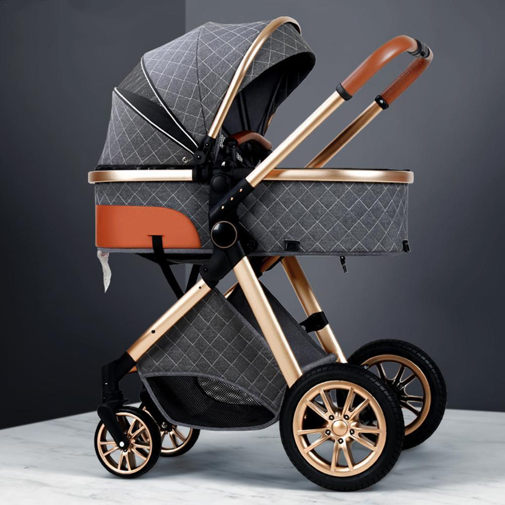 3 in 1 Baby Stroller Royal Luxury High Landscape Folding Kinderwagen Pram with Gifts Baby Carriage Portable Travel Baby Carriage
