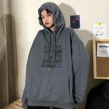 Vintage Oversize Best-Selling Sweatshirt Women's 2021 Loose Korean Fashionable Ins Idle Style BF Thi