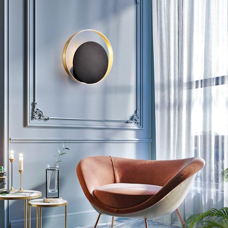 Scandinavian Bedside Lamp Wall Lamp Round Loft Indoor Wandlamp Modern Decorative Wall Led Lights Luminaire for Living Room