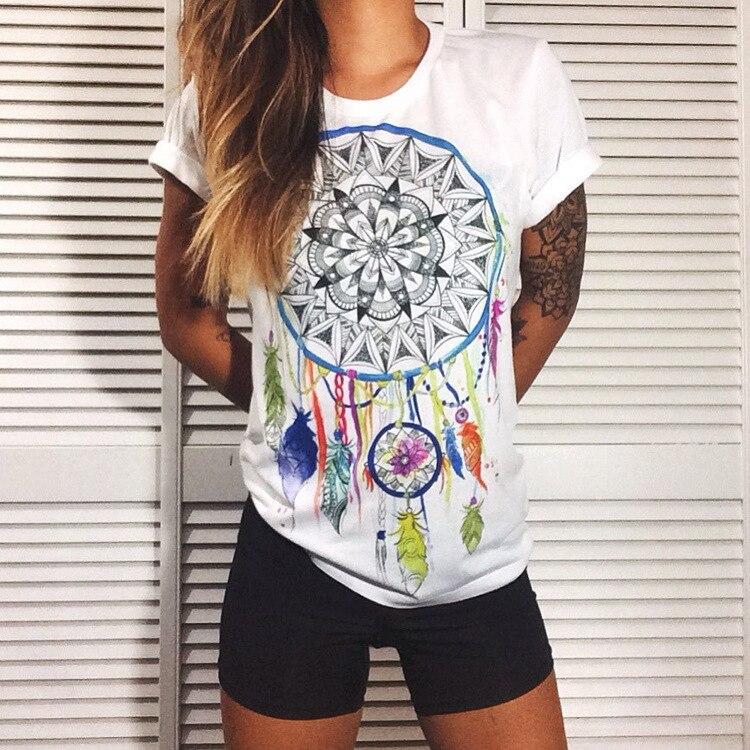 Plus Size Top Tee Ladies 3D Printed Qmilch tatoot T-shirt Women's Multi--S-XXXL -40