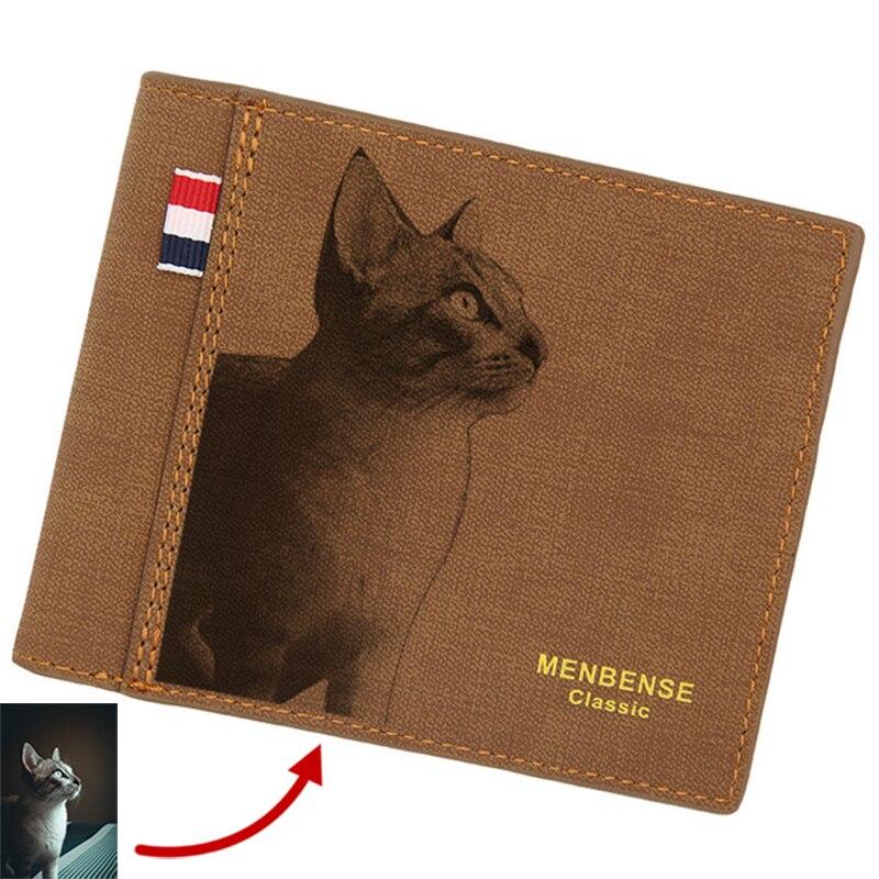 Простой и стильный бумажник «сделай сам» с индивидуальной фотографией и надписью, праздничный подарок, бумажник на заказ, ультратонкий бум...