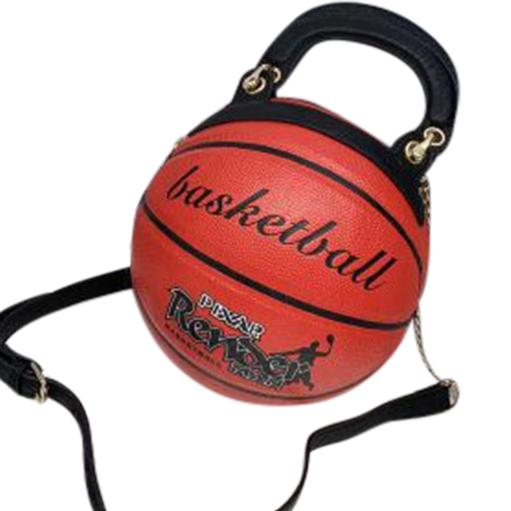 Bolso de mano para mujer, novedad de 2019, bolso redondo para baloncesto, bolso de hombro con cadena para chicas