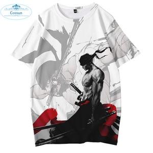 COSSUN 2020 One Piece Luffy Zoro Ace Sabo T-shirt Hip-Hop Streetwear Outdoor