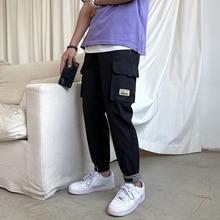 New Cargo Pants Men 2021 Mens Streetwear Joogers Pants Black Sweatpant Male Hip hop Fashion Pockets