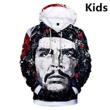 3 zu 14 Jahre Kinder Hoodies Che Guevara 3d Print Sweatshirt Hoodie Jungen Mädchen Mode Harajuku Jacke Mantel Kinder Kleidung