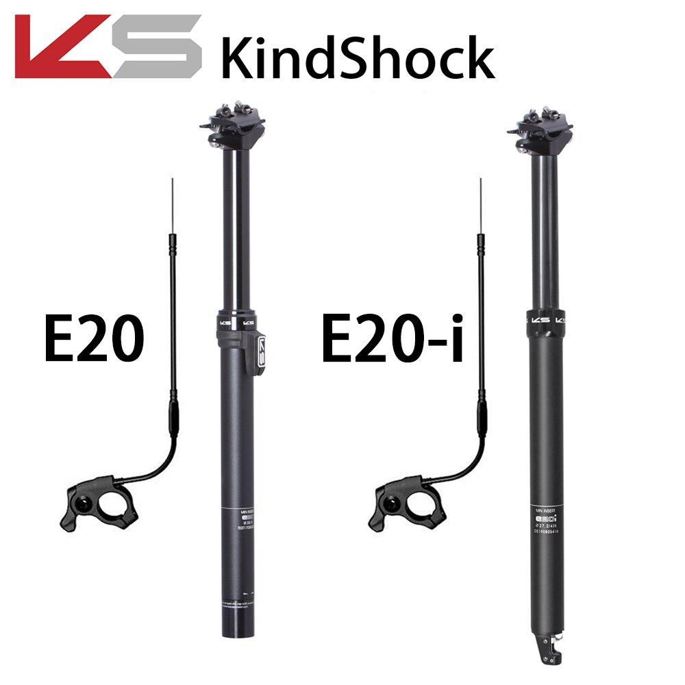 KS KindShock E20 E20-i con asiento Gotero para bicicleta de montaña remota 27,2/30,9/31,6mm 125mm asiento de bicicleta EXA