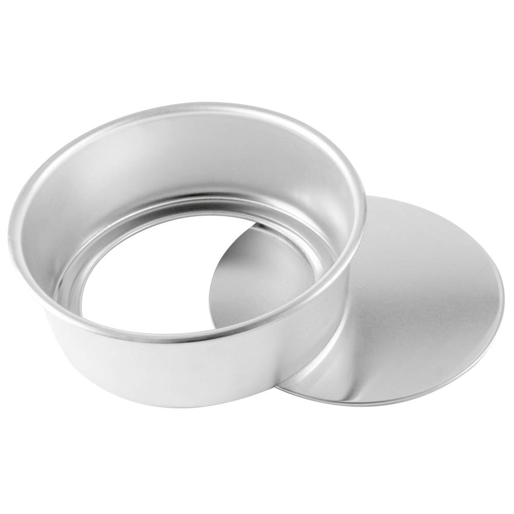 8 pulgadas no palo Fondo extraíble profundo Pan de molde DIY postre fácil Demold de aleación de aluminio redondo molde para pasteles de gasa