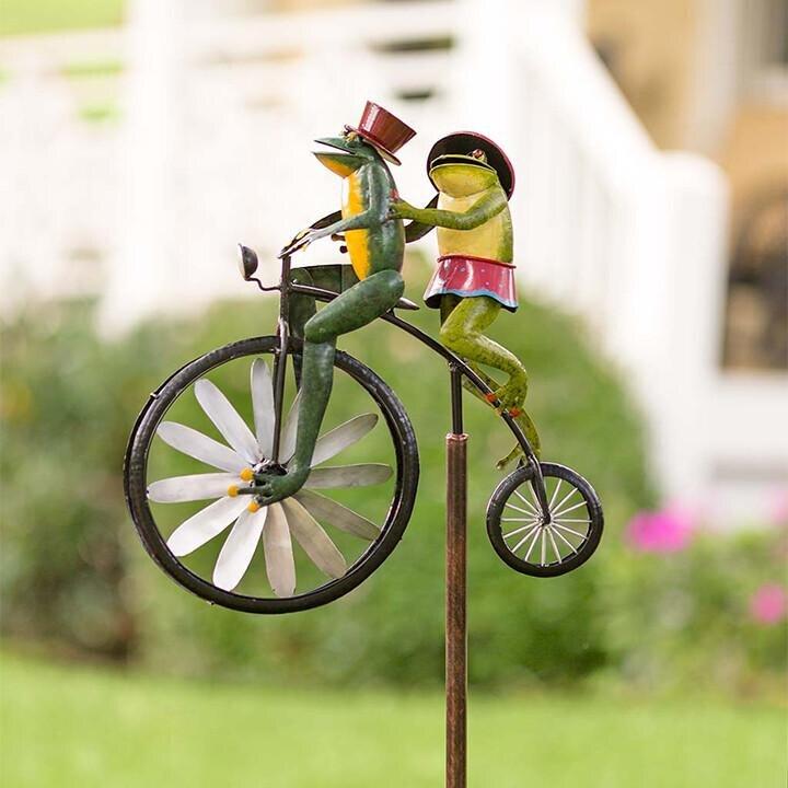 ZK20 خمر دراجة معدنية طاحونة الحيوان دراجة طاحونة المعادن كومة الضفدع الدراجات ديكور حديقة المنزل قطرة الشحن