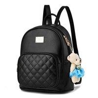 Модный женский маленький рюкзак для девушек, рюкзаки черного цвета, модные женские сумки для девушек, черный кожаный рюкзак, школьная сумка