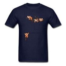 Pocket Red Panda Bears T Shirt Short Sleeve Mens T Shirts Fashion 2019 Hip Hop Group O-neck Cotton Big Size  Men Shirts