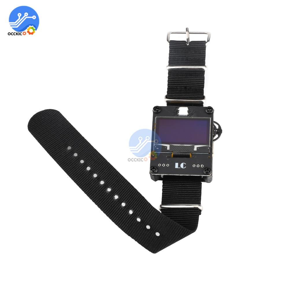 Esp8266 wi fi relógio programável placa de desenvolvimento wearable relógio inteligente para arduino kit para wi fi relógio deauther ESP-12F módulo