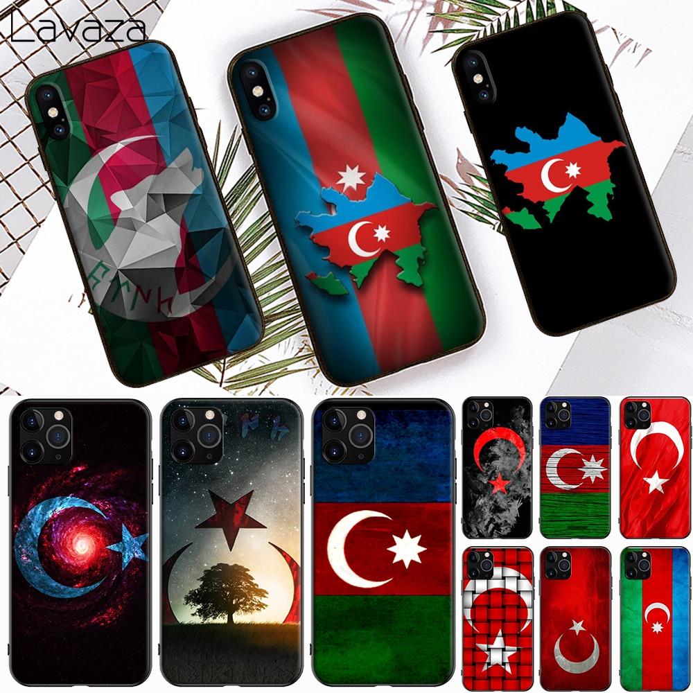 Azerbaijan buta flag Colorful Cute Soft Silicone Case for Apple iPhone 6 6S 7 8 Plus 5 5S SE X XS 11 Pro MAX XR Cover