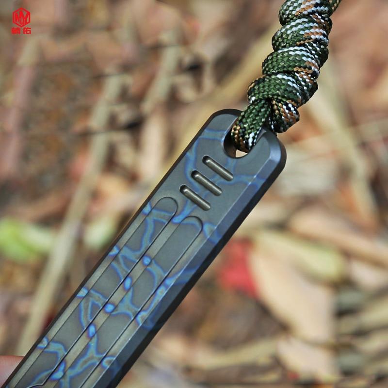 1 قطعة سبائك التيتانيوم عتلة المحمولة متعددة الوظائف EDC أداة في الهواء الطلق الدفاع عن النفس عصا الدفاع الذاتي سلاح التكتيكية الشاي سكين