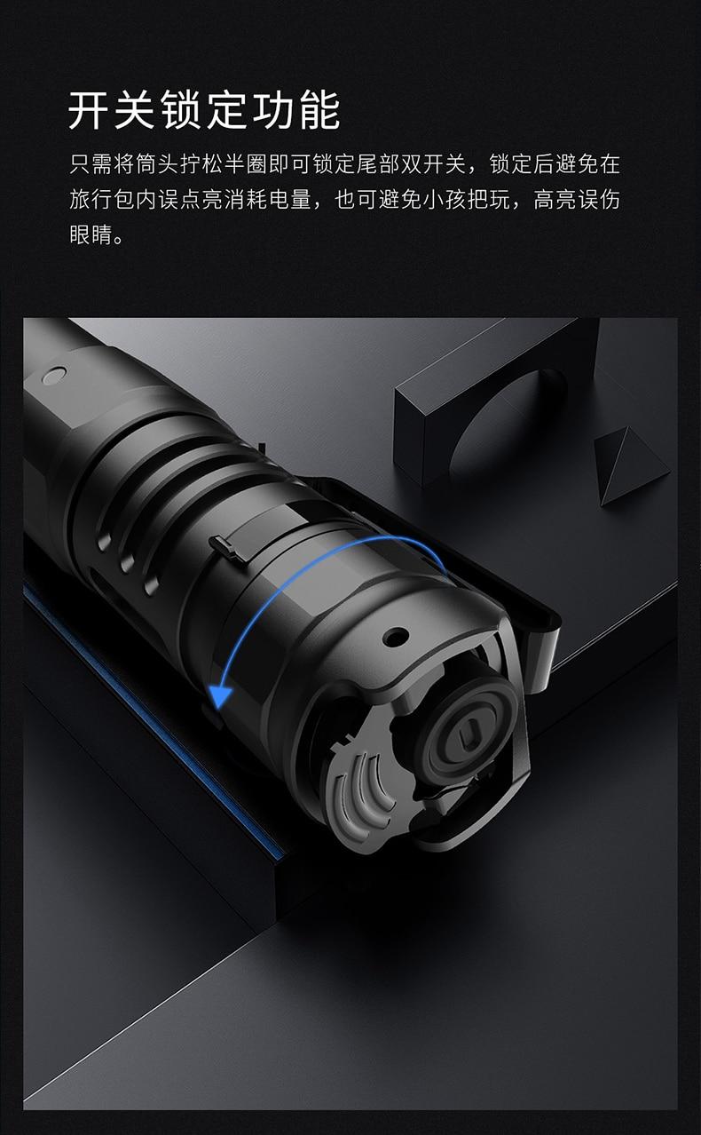 Portable Waterproof Flashlight Handle Accessories Long Range Strong Light Flashlight Zoom Tactical Lanterna Lighting BF50FL enlarge