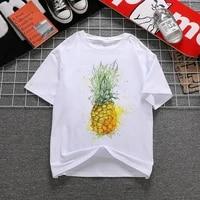 pineapple fruit clothing printed t shirt womens t shirt fashion womens top graphic t shirt womens kawaii camisas t shirt