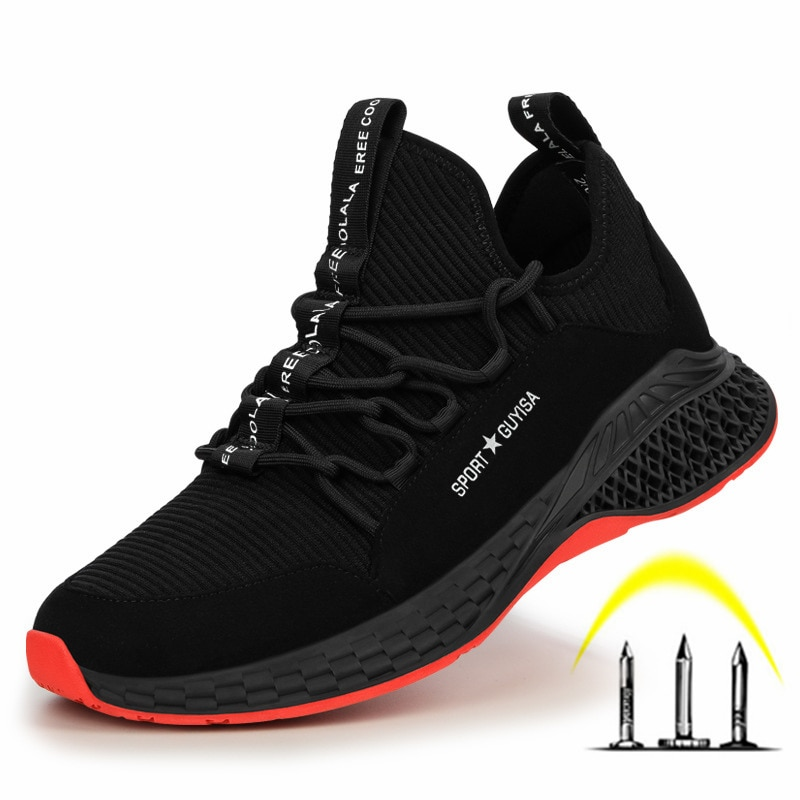 High Quality Men Work Safety Shoes Puncture-Proof Anti-Smashing Work Boots Breathable Lightweight Steel Toe Shoes for Men недорого