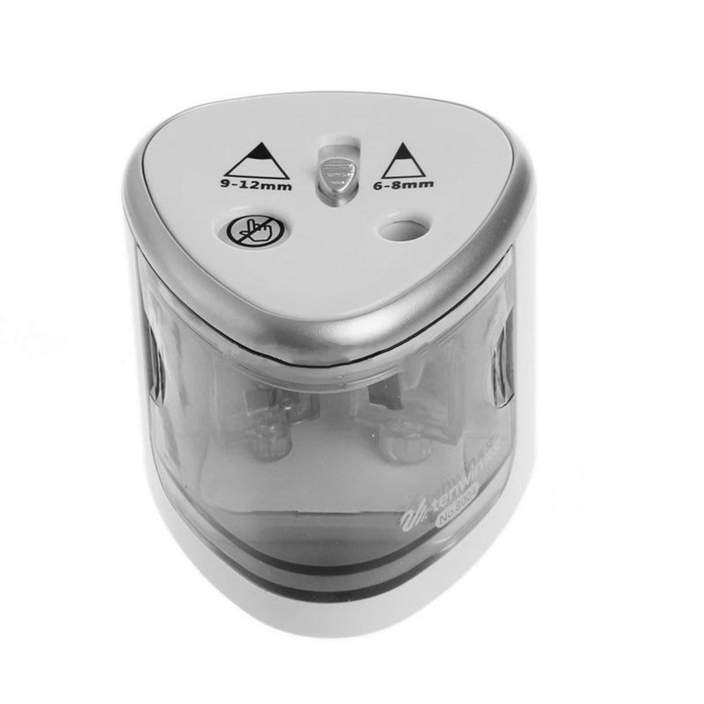Автоматическая точилка для карандашей с двойным отверстием, электрическая точилка для карандашей, точилка для карандашей с безопасным зам...
