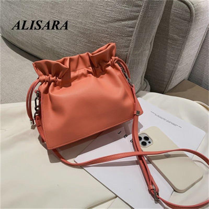 Cloud bag fold leather soft leather messenger bag niche design small bag shoulder handbag female summer new style