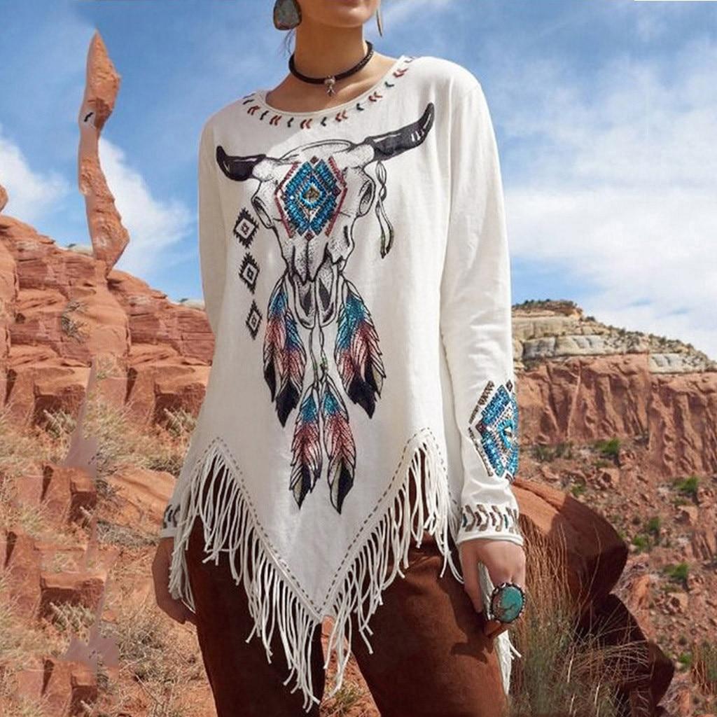 Camiseta De manga larga con estampado De Streetwear para Mujer, ropa De Mujer, 2020, Camiseta Casual, Camiseta Mujer Poleras Mujer De Moda