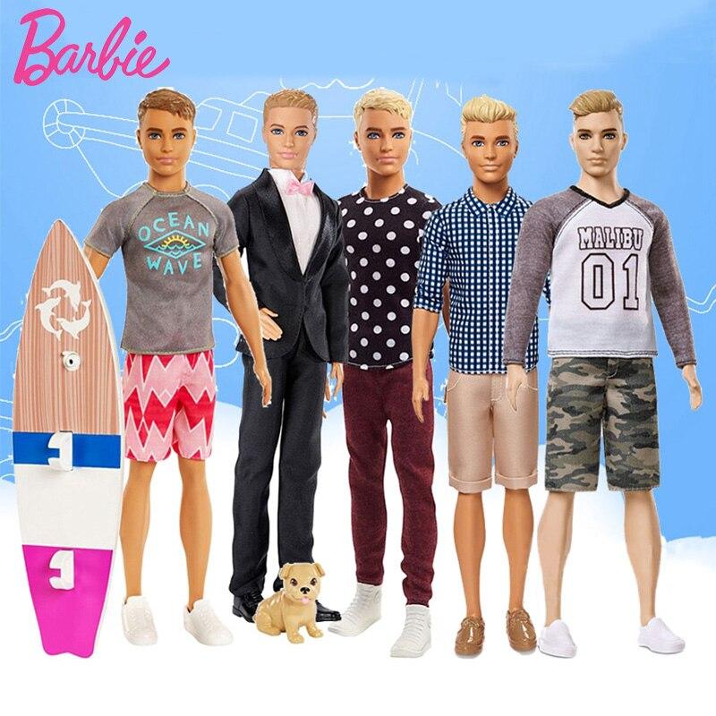 Muñecas Ken originales de Barbie, novio, el Príncipe Ken, juguete de moda,...