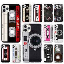 Retro Cassette Tape Camera Case For Apple iPhone SE 2020 11 Pro Max XR X XS 6 7 8 SE2 Plus Phone Cover Shell