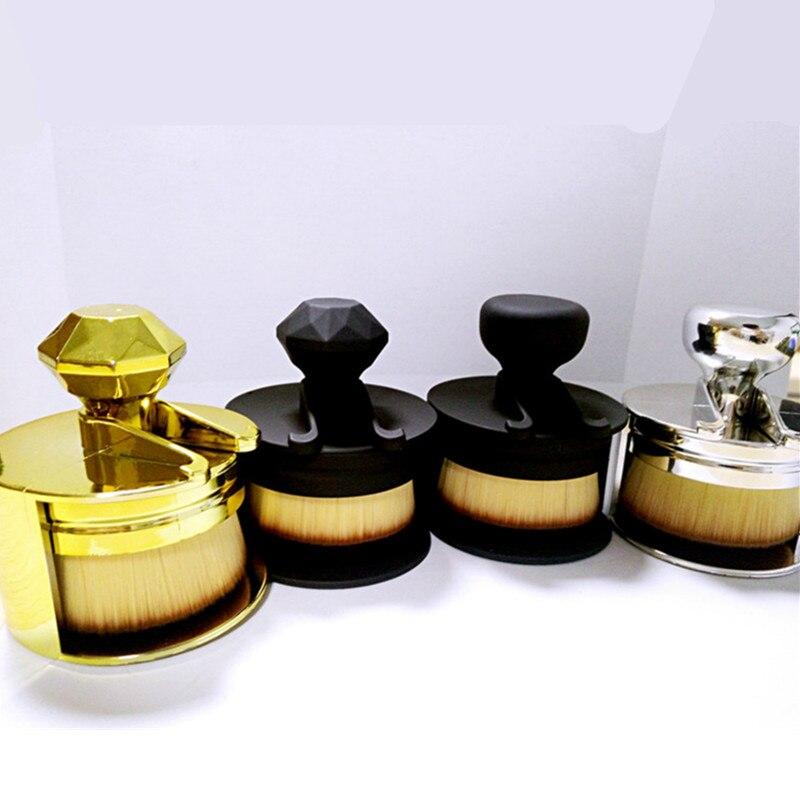1PCS Foundation Brush Unique Design Stamp Makeup Brushes Flat Round Makeup Brush Round Make Up For Liquid Cosmetic High Quality