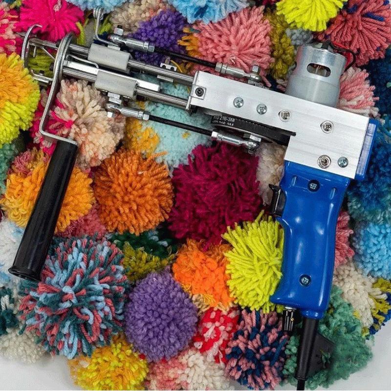 السجاد الكهربائية الانجراف بندقية السجاد ماكينة نسيج يتدفقون آلة تقطيع كومة الحياكة آلة حلقة