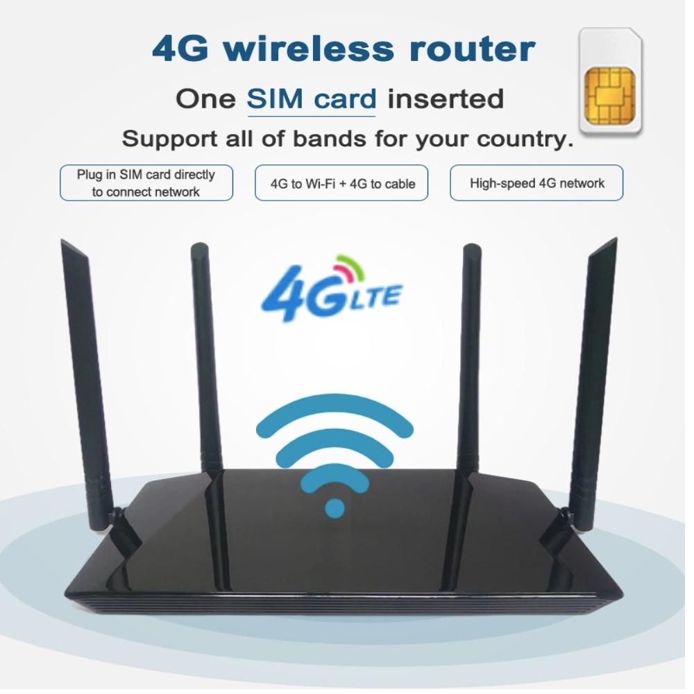 أرخص الجيل الثالث 3G/4G LTE موبايل واي فاي هوت سبوت مع فتحة للبطاقات Sim LTE راوتر 300Mbps اللاسلكية CPE 4 قطعة هوائي خارجي يصل 32 مستخدم
