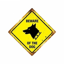 SZWL Waterproof Car Sticker BEWARE OF THE DOG Decal Automobile Motorcycles Accessories Vinyl for Doo