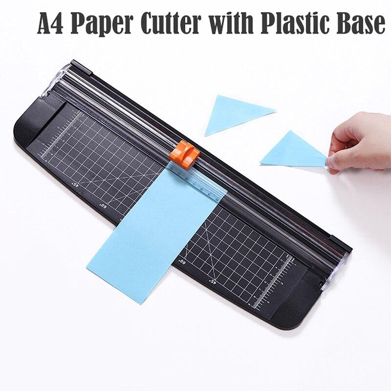 Cortadora de papel de precisión, cortadora de fotos de papel, cortadora de libros de recortes portátil, cortadora para hogar y oficina A4, máquina cortadora de papel con Base de plástico