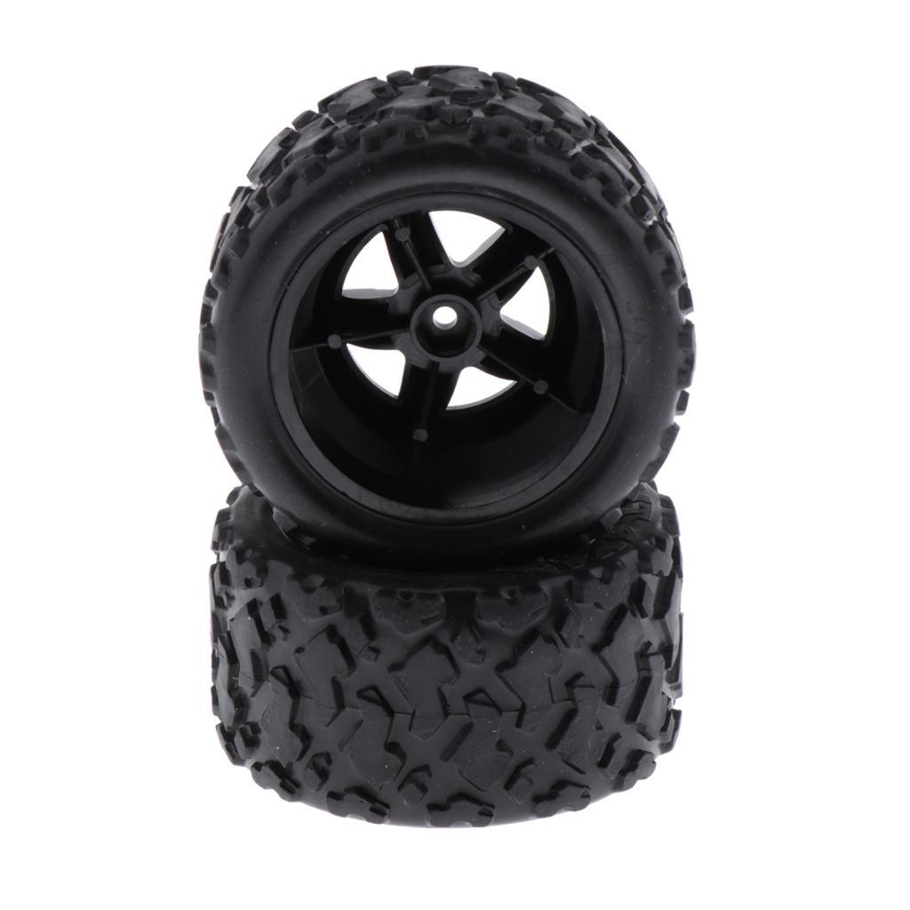 2 Pieces 1:18 Car Plastic Tire 1/18 RC Racing Car Accessory More Attractive