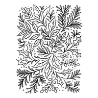 clear stamps festive foliage watercoloring color blending for diy scrapbook photo album craft card 2021 new