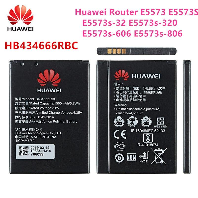 Teléfono móvil original HB434666RBC 100%, batería de 1500mAh para Router Huawei E5573 E5573S E5573s-32 E5573s-320 E5573s-606, E5573s-806