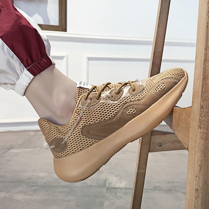 2020 zapatos casuales calzado deportivo hombre primavera-verano Zapatos de malla lámina perforada los zapatos de los hombres de los zapatos de goma Zapatos Zapatillas de deporte Zapatos de volar Wo
