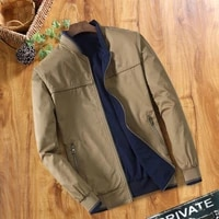 2021 double sided middle aged men jacket work clothes large code cotton mens coat thin autumn winter seasonal work wear