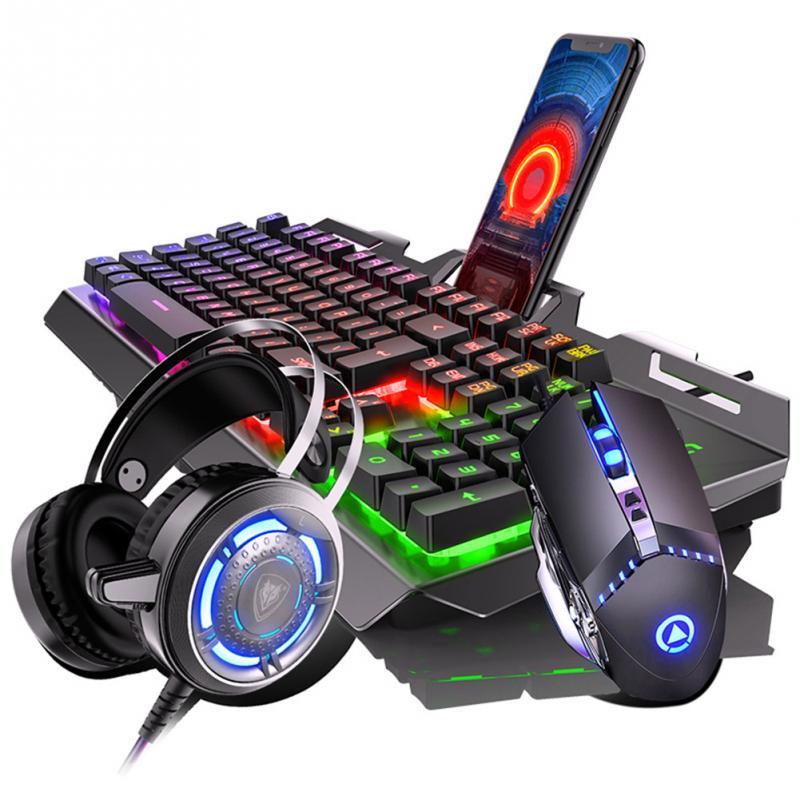LED الخلفية المحمولة ألعاب كمبيوتر المنزل العالمي مكتب العمل لأجهزة الكمبيوتر المحمول الألعاب لوحة المفاتيح الماوس مجموعة دائم الكمبيوتر USB ...