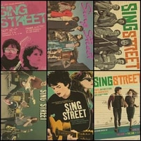 buy three to send one sing street musical drama lucy boynton jack reynor vintage kraft poster home decoration painting