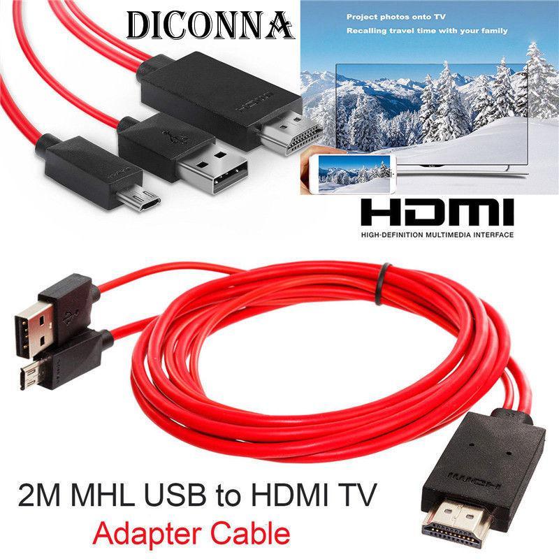 USB a HDMI TV Cable adaptador Micro USB a HDMI 1080P HD TV Cable adaptador de Cable para Android Samsung Smartphone Tablet TV11PIN