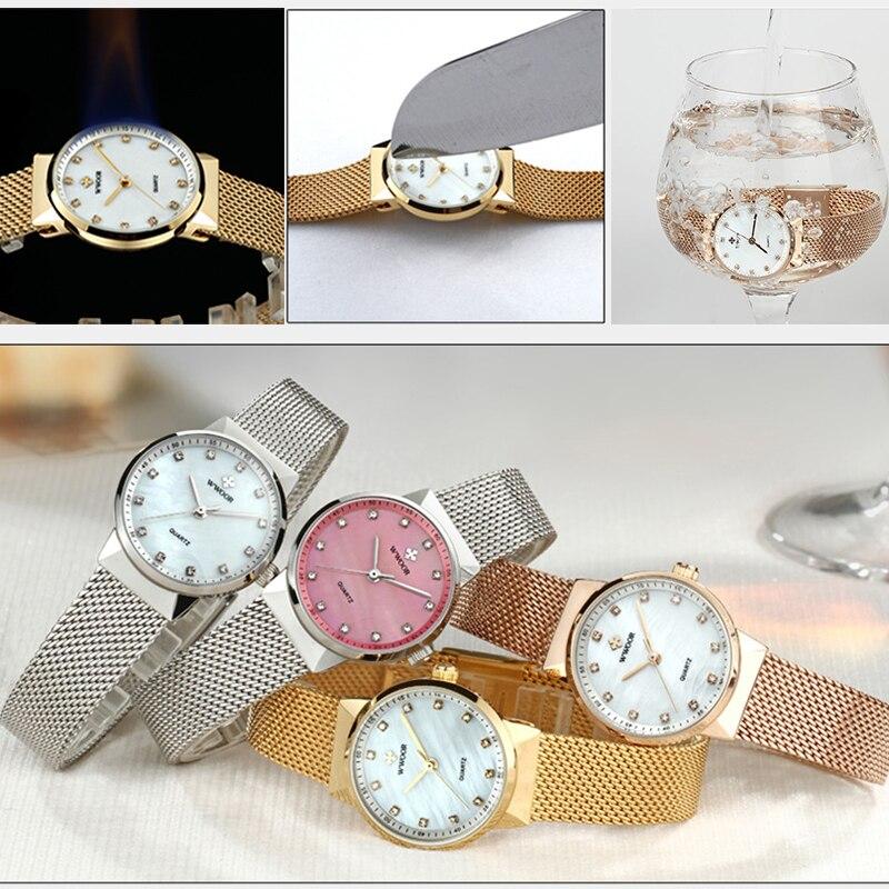 WWOOR Luxury Gold Watch Women 2020 Stylish Diamond Women Bracelet Watches Elegant Quartz Wrist Watch For Ladies reloj mujer xfcs enlarge