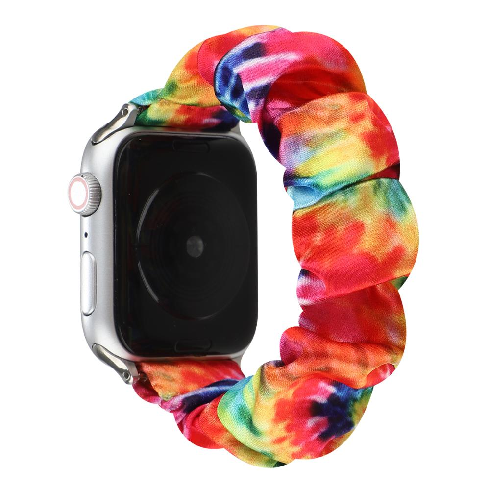 bumvor sport woven nylon band strap for apple watch 40 44mm 42 38mm wrist braclet belt fabric like for iwatch 4 3 2 1 edition Satin Fabric Scrunchie Band for Apple Watch iwatch 42mm 44mm 38mm 40mm Series 5 4 3 2 1 Women's Flexible Wrist Strap Belt.
