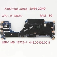 for thinkpad x390 yoga laptop motherboard cpui5 8365u ram8g 18729 1 448 0g105 0011 fru5b21c15301 5b21a41203 02hm797 test ok