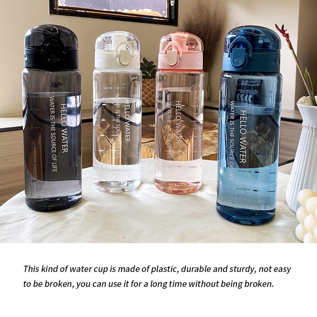 Portable Water Bottle 780ml Sports Gym Bottle School Outdoor Travel with Straw Plastic Water Cup Dinkware Bike Bottle Kitchen