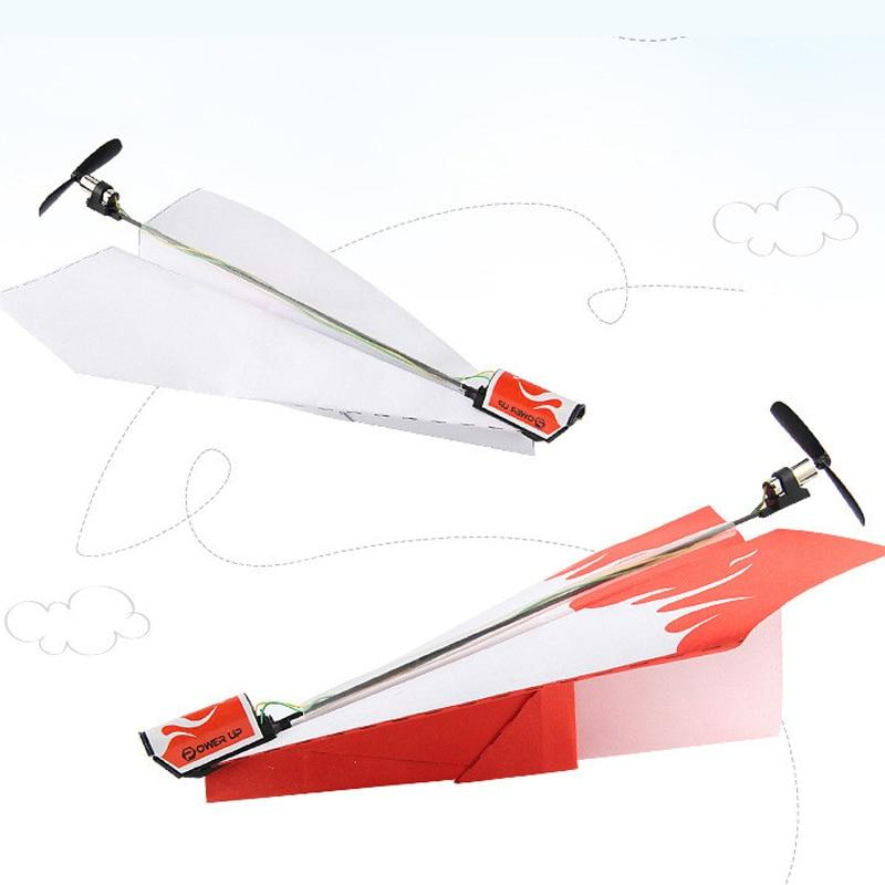 RC modelo de papel plegable avión juguetes Diecast juguete modelo de avión aire tecnología para manualidades Motor potencia Red RC avión niños juguete de juego