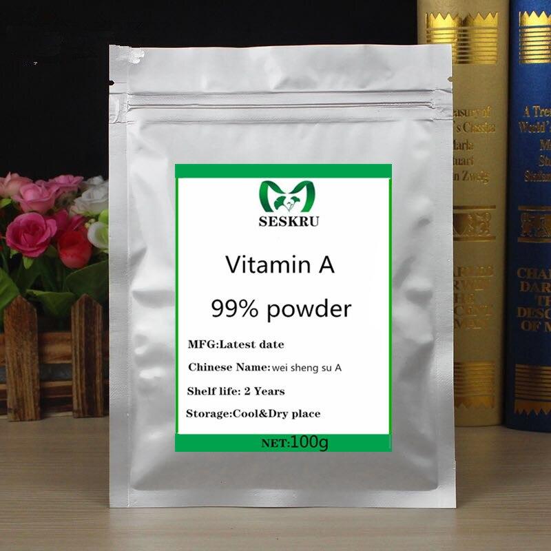 99% чистый витамин а порошок, пищевой витамин а порошок ретинил ацетат, бесплатная доставка