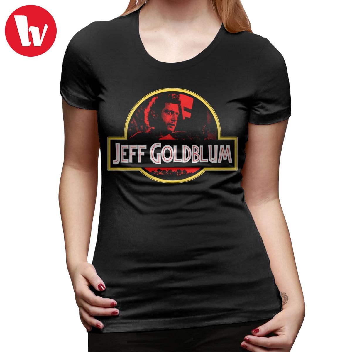 Jeff Goldblum T-Shirt JURASSIC GOLDBLUM T Shirt Printed Navy Women tshirt O Neck Simple Ladies Tee Shirt