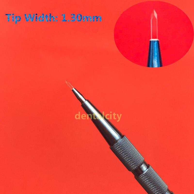 Hoja de plantación de pelo de zafiro de 1,3mm para el tratamiento de la pérdida de cabello Herramienta de extracción de folículo de pelo