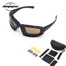 Photochromic Sunglasses Polarized Military Tactical Glasses 4 Lens Airsoft Goggles Shooting Glasses