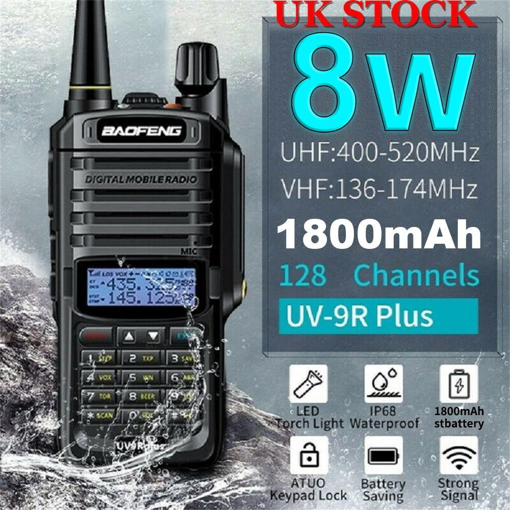 Baofeng UV 9R plus ترقية uv9r 40 50 كجم اسلكية تخاطب 10 واط hf جهاز الإرسال والاستقبال vhf uhf هام راديو طويل المدى CB اتجاهين محطة راديو